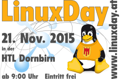 LinuxDay 2015 am 21. Nov. in Dornbirn
